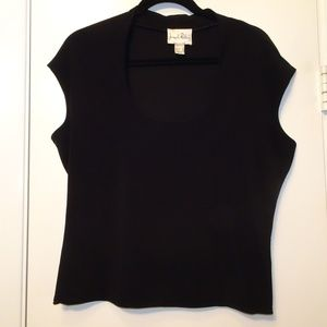 Joseph Ribkoff Scoop Neck Top | Black | EUC | 6
